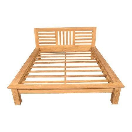 teak houten bed