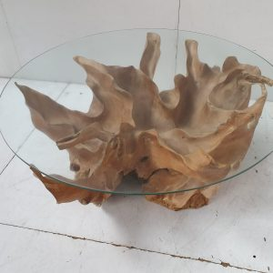 wortel-tafel-teak-bloem